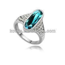 Anéis islâmicos antigos anéis de cristal austríaco anéis de dedo de anéis de forma de ouro branco anéis