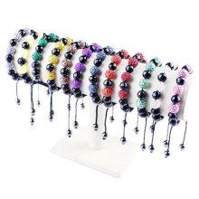 New Arrival Glass / Resin perles personnalisés shamballa bracelets mélangés couleurs BR29