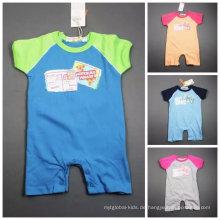 Baby-Spielanzug Sommer-Overall / Spielanzug 100% Baumwolle Auf Lager Bekleidung für 0m-24m