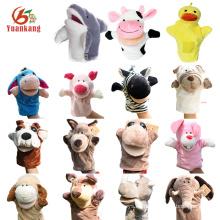 Tigre / burro / ciervos / cocodrilo / langosta / cerdo / oso de peluche / reno / rana / mono / pescado / tiburón / vaca / juguete del perro / pato marioneta de la mano para el adulto