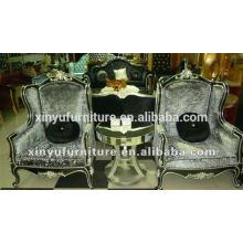 Nueva silla de lujo del sofá del brazo del estilo clásico para la sala de estar XYD144