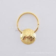 Entwerfer-Nasen-Ring-Schmucksache-Hersteller, handgemachtes Gold überzogene Septum-Nasen-Ring-Körper-Schmucksachen