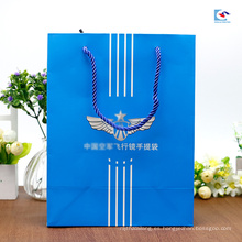 Aduanas que imprimen las bolsas de papel blancas del color del cartón para el empaquetado de las gafas de sol