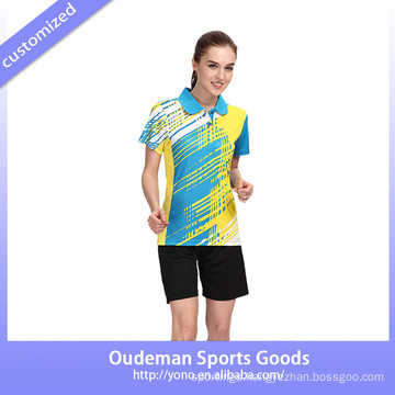 2017 New design badminton uniform and jersey designs for badminton /women badminton wear in wholesale