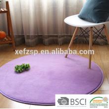 tapis de sol rond lavable de mousse de mémoire de microfiber pour le yoga