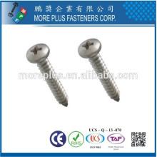 Hergestellt in Taiwan Edelstahl 306 # 8 Phillips Drive Rundkopf Selbstschneidende Schraube