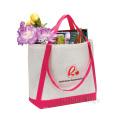 Filz-Einkaufstasche mit Kontrastfarbband (hbfe-01)