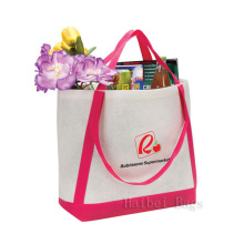 Felt Tote Bag with Contrast Color Strap (hbfe-01)