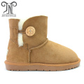 Ladies fashion australian winter warm sheepskin ankle boots