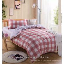 Tecido de microfibra impresso disperso de poliéster de estilo simples para folha de cama com ótimos designs
