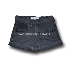 children girls dark denim shorts
