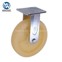 Rodízio resistente de 8 polegadas com placa