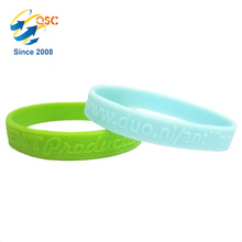 Wholesale embossed pattern promotional bracelet