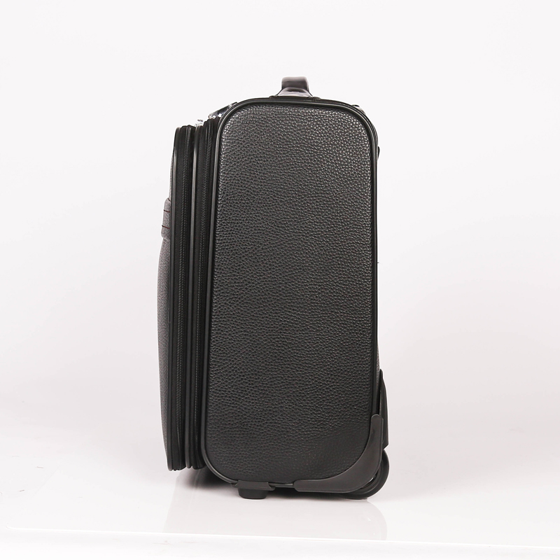 Black PU Trolley Luggage