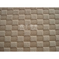 Polyester Embossed Short Pile Sofa Fabric with Grid Pattern