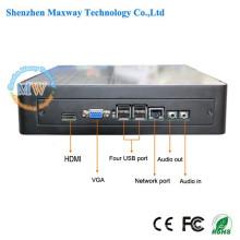 Mini-PC-Box mit Metallgehäuse unterstützt i3 / i5 / i7 als Optionen