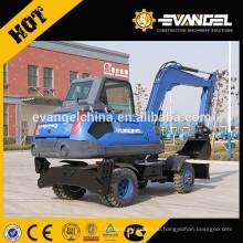 Используется 8 тонная мини-колесные экскаваторы WYL85 для продажи