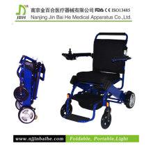 Cadeira de rodas dobrável de alimentação para deficientes