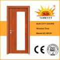 Низкая цена новый дизайн резной стеклянный деревянные двери (СК-W030)