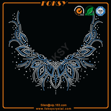 Good Quality for Neckline Rhinestone Transfer Neckline Collar design heat transfers wholesale supply to Uruguay Manufacturer