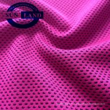 tissu de chemise de sport de maille de refroidissement teint de fil de micax pour la serviette de sport