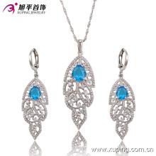 Luxe Rhodium Lustres CZ Diamond Fashion Imitation Ensemble de bijoux 63682