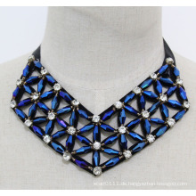 Dame Geometrische Kristall Modeschmuck Halsband Mode Halskette (JE0169)