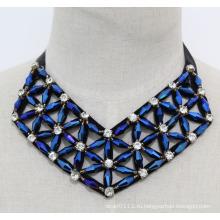 Леди геометрический Кристалл костюм ювелирные изделия колье мода ожерелье (JE0169)