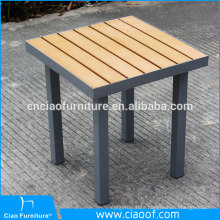 Outdoor plastic wood table