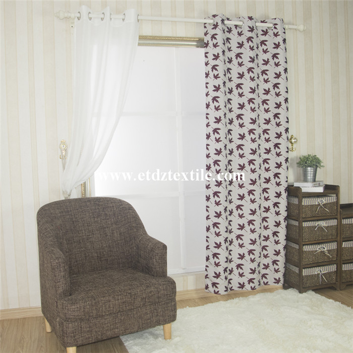 Kanada Maple Polyester Fenstervorhang
