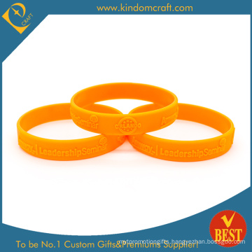 Factory Price Embossed Logo Silicone Wristband (LN-021)