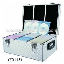 alta qualidade & forte CD 600 discos CD caixa de alumínio grosso