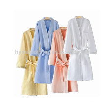 Animal design hotel white 100%cotton bathrobe