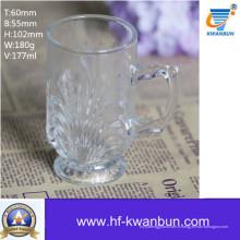Tasse à bière Tasse en verre Haute matière blanche Kb-Jh6007
