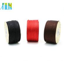 Cordón de la seda de la torsión de 3.0mm para el collar con las cadenas calientes de la venta del cordón de la joyería de la piedra natural de la alta calidad, ZYL0006