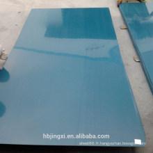 Feuille rigide transparente de PVC pour la construction