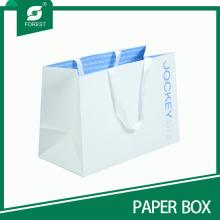 2015 Bolsa de papel de lujo de encargo para la ropa y las compras