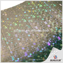 Silver star 3D holographic gift box for christmas party