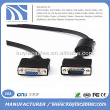 New Black 6ft Male to Female VGA Cable Extension Cord For PC Laptop TV Projector