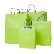 Bolsa de papel de moda verde