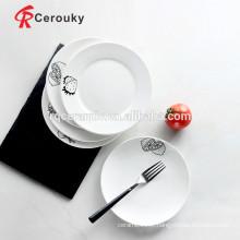 Plaques de plats en céramique de restaurant plats à base de plaques de céramique bon marché