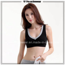 OEM Wholesale New Design Women′s Polyester Spandex Removable Pads Sports Bra