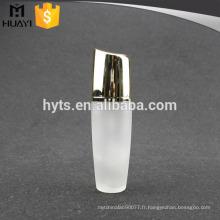 bouteille de lotion de corps en verre vide de luxe avec pompe à crème
