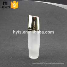 luxury empty glass body lotion bottle with cream pump