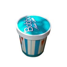 Copas de papel reciclables desechables con tapa personalizada