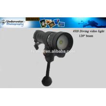 Eclairage imperméable à 200 m de lumière marine, Équipement photographique Vidéo de plongée / lumière photo