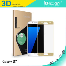 3D curved full coverage tempered glass screen protector for Samsung s7