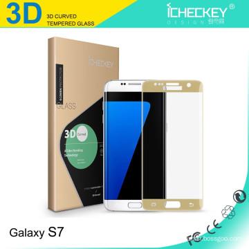 3D изогнутый протектор экрана из закаленного стекла для Samsung S7
