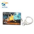 Hochwertige Logo Promotion Metall Gravierte Geschenke Schlüsselanhänger