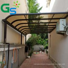 Customized Gazebo Outdoor Balcony Villa Plastic Solid Sheet With Aluminum Alloy Canopy Awning
